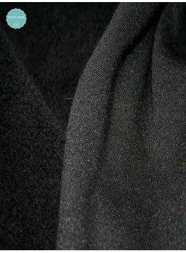Sweaterstof - Sherpa - Zwart - 12,50 Euro Per Meter