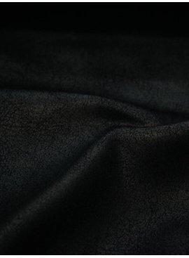 15,50 Euro Per Meter - Zwart - Elastische Skai