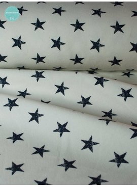 8€ p/m - Stars Blue White - French Terry