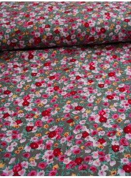 Nooteboom 1,1m op 1,5m - Rood Roze Bloemen - Viscose