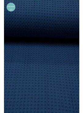 9€ p/m - Kobalt - Wafeldoek