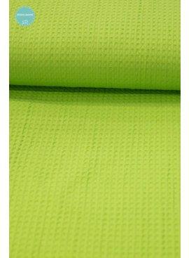 Wafeldoek - Lime - 9,00 Euro Per Meter