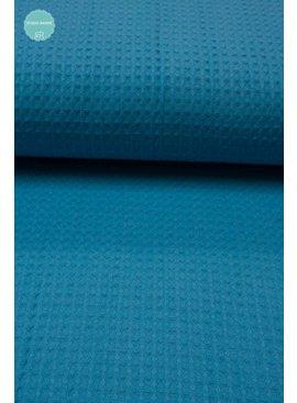 Wafeldoek - Turquoise - 9,00 Euro Per Meter