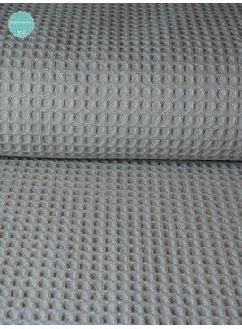 0,8m x 150cm - Zilver Grijs - Wafeldoek