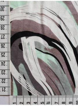 Polytex 3€ p/m - Grafisch Abstract Mint - Bedrukte Tricot