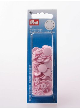 Prym Color Snaps - Baby Roze Rond