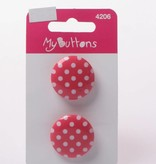 Knopen - Dots - Fuchsia