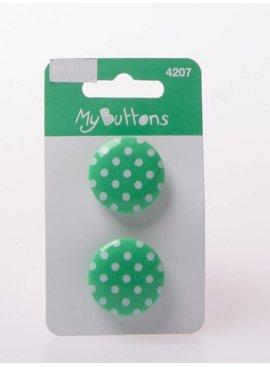 Knopen - Dots - Groen