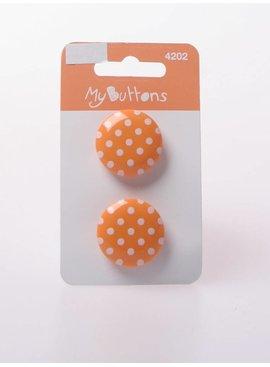 Knopen - Dots - Licht Oranje