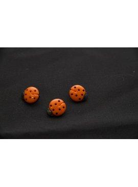 Knopen - Lieveheersbeestje - Oranje - 13 X 15 mm