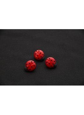 Knopen - Lieveheersbeestje - Rood - 13 X 15 mm