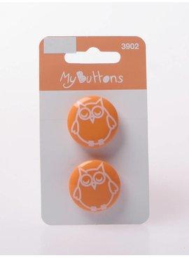 Knopen - Uil - Oranje