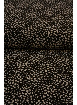 Polytex 12,50 Euro Per Meter - Black And White - Crepe