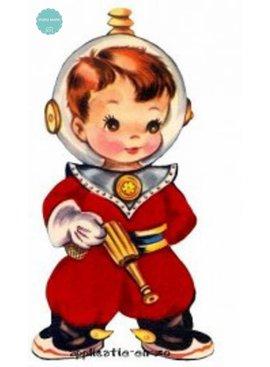 Full Color Applicatie - Vintage Astronaut