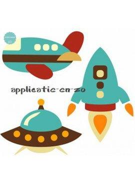 Full Color Applicatie - Ruimte En Vliegtuigen