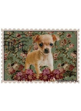 Full Color Applicatie - Postzegel Hond