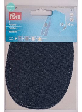 Prym Elleboogstukken - 10 X 14 cm Donker Blauw Jeans