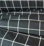 11,50€ p/m - Zwart Wit Geruit - Bedrukte Tricot