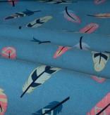 Veertjes Blauw - 12,50 Euro Per Meter