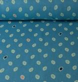 Gekleurde Dots Blauw - 12,50 Euro Per Meter