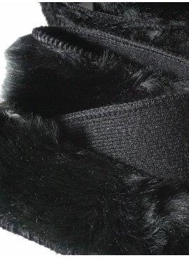 3€ Per Meter - Zwart - Sierlint Pels