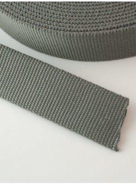 2,00€ p/m - Tassenband Katoen Grijs 30mm