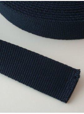 2,00€ p/m - Tassenband Katoen Marine 30mm