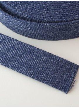 2,00€ p/m - Tassenband Katoen Jeans 30mm
