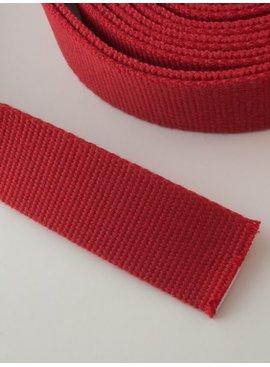 2,00€ p/m - Tassenband Katoen Rood 30mm