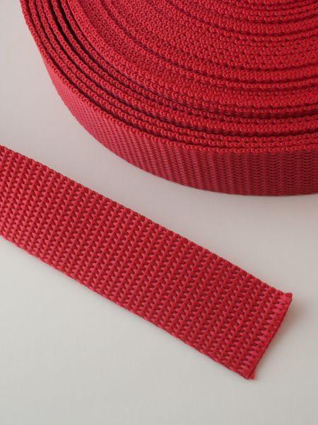0,90€ p/m - Tassenband Nylon Rood 25mm