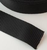 0,90€ p/m - Tassenband Nylon Zwart 25mm
