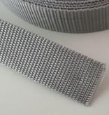 0,90€ p/m - Tassenband Nylon Lichtgrijs 25mm