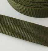 0,90€ p/m - Tassenband Nylon Legergroen 25mm