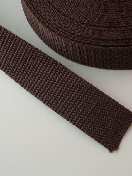 0,90€ p/m - Tassenband Nylon Bruin 25mm
