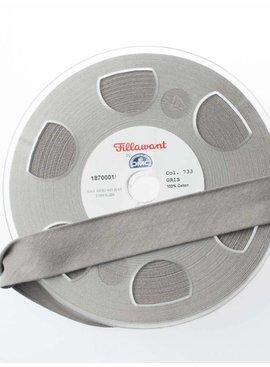 Fillawant 1.40€ p/m - Lichtgrijs - Jersey Biaisband