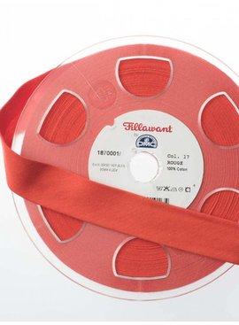 Fillawant 1.40€ p/m - Oranjerood - Jersey Biaisband