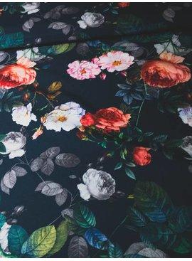 7€ Per Meter - Digital Roses - Satijn Polyester