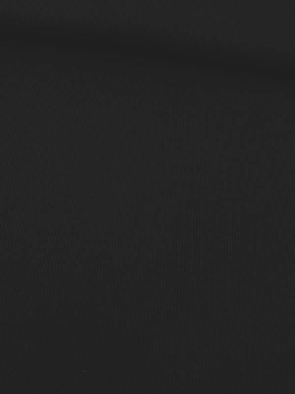 12,50€ p/m - Zwart - Fijne Rib Boordstof