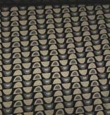 10€ Per Meter - Beige Grijze Tekening - Elastische Viscose