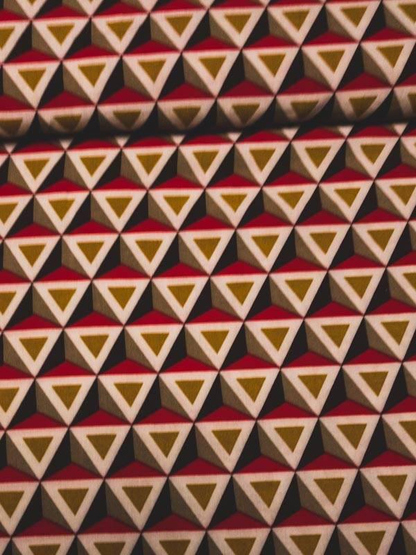 1.20m op 1.50m - Piramides Oker Rood - Viscose