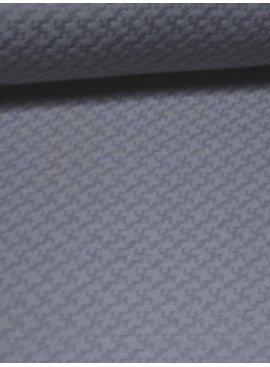 Nooteboom 7€ p/m - Grijsblauwe Kruisjes Structuur - Elastisch Katoen