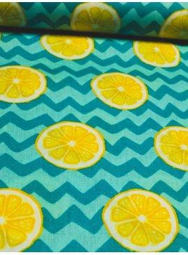 POPPY 4,50€ Per Meter - Lumineus Lemon - Bedrukte Katoen