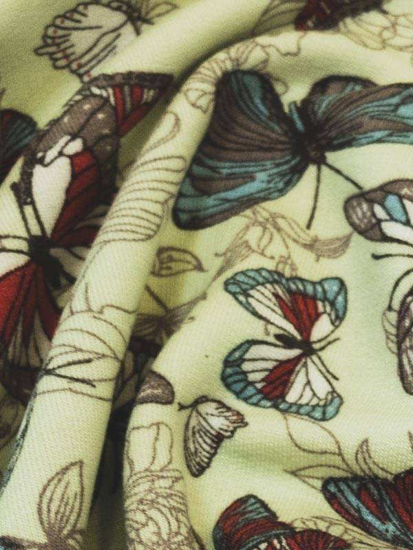 13€ Per Meter - Mint Vlinders - French Terry Viscose