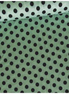 Nooteboom 6,50€ p/m - Polkadot Mint - Bedrukte Viscose Tricot