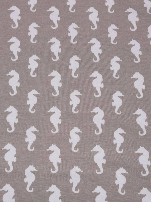 11€ Per Meter - Seahorse - Bedrukte Tricot