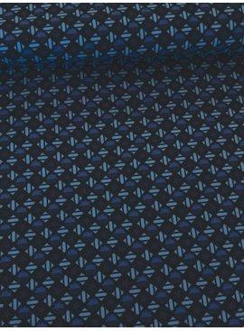 12€ Per Meter - Blauwe Ruitjes - Bedrukte Katoen