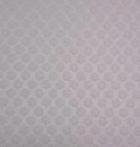 1,2m x 145cm - Polkadot Wit Structuur - Elastisch Katoen