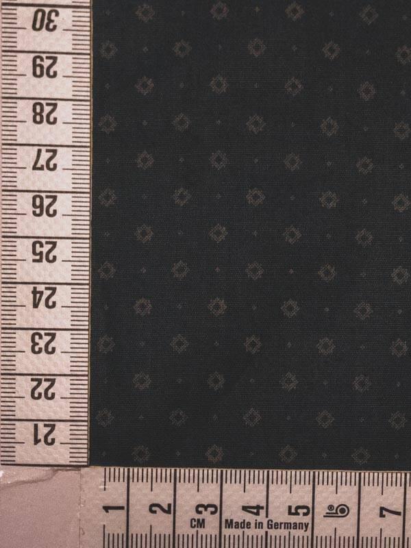 11€ Per Meter - Donkergrijs Ruitjes - Bedrukte Katoen