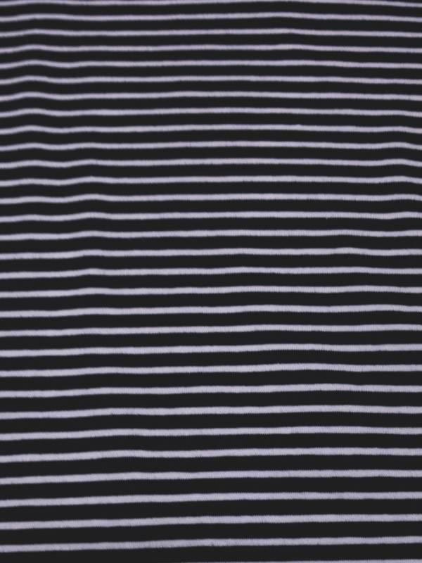 14€ Per Meter - Zwart Wit Strepen - Bedrukte Tricot
