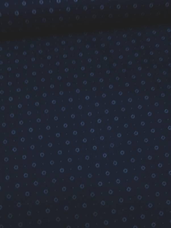 11€ Per Meter - Donkerblauwe Ruitjes - Bedrukte Katoen